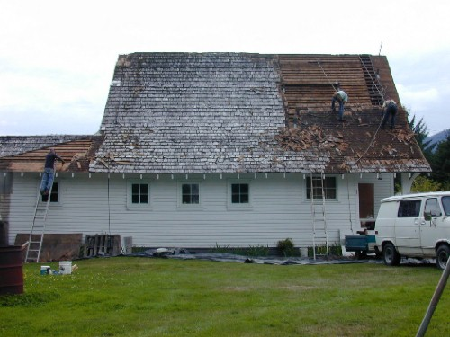 Ok This Is The Tear Off. 3 Layers Of Roof. Top Is Shake And Two Of Shingles  Underneath. ...
